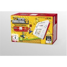 Mängukonsool NINTENDO 2DS white + red incl...