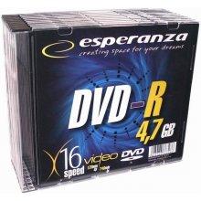 Diskid ESPERANZA DVD-R 4,7GB x16 - Slim 10