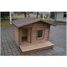 Inpuit terrassiga soojustatud koerakuut BÖSE