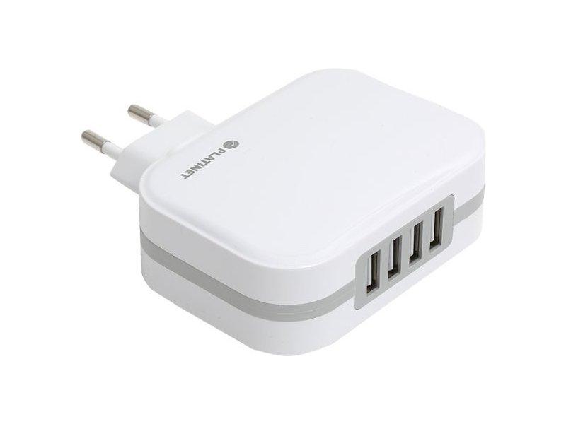 ca6a36b389a PLATINET USB laadija + kaabel 4xUSB 6800mA, valge (43724) - 01.ee
