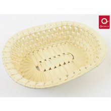 QUISELLE Oval palm leaf basket