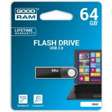 Флешка GOODRAM URA2 64GB USB2.0 чёрный