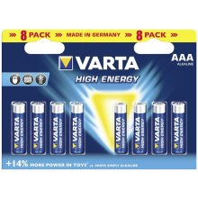 VARTA 1x8 High Energy Micro AAA LR 03