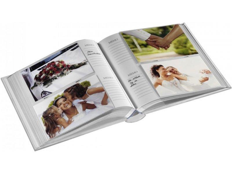 für 200 Fotos im Format 10x15 cm Gold Hama 2364 Memo-Album Lazise
