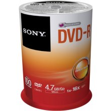 Диски Sony DVD-R 4,7 GB | 16x [cake 100 pcs]