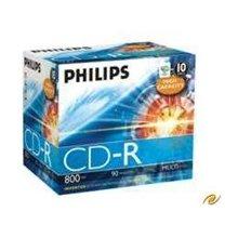 Diskid Philips CD-R 800MB 10pcs jewel ümbris...