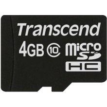 Mälukaart Transcend microSDHC 4GB Class 10