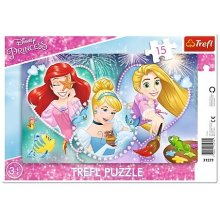 TREFL Puzzle 15 pcs Disney Princess - Three...
