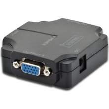 DIGITUS Mini Splitter VGA 2-port, 350MHz...