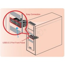 Unitek Y-3901 PANEL 3.5 PORT 2x USB3.0