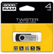 Флешка GOODRAM TWISTER 4GB чёрный USB2.0