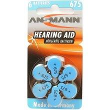 Ansmann 1x6 Zinc-Air 675 (PR 44) Hearing Aid...