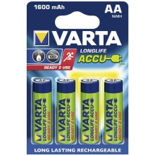 VARTA 1x4 Rechargeable Accu AA Ready2Use...