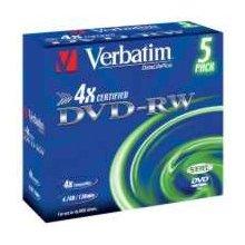Диски Verbatim DVD-RW [ 5pcs, 4.7GB, 4x...