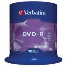Диски Verbatim DVD+R 16x 4.7GB 100P CB 43551
