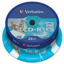 Диски Verbatim CD-R 700MB 25pcs Pack 52x...