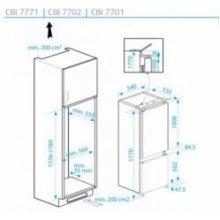 Холодильник BEKO Fridge-freezer CBI7771
