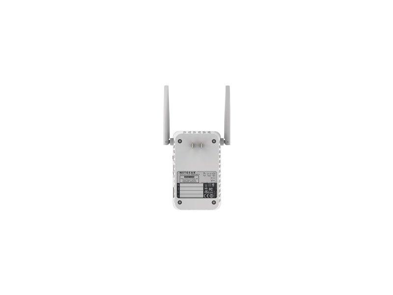NETGEAR AC1200 WiFi Range Extender - 802 11ac, 1PT, Wall-plug Ext  Ant  (EX6120)