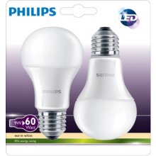 Philips LED Bulb E27 twin pack 9W (60W)...