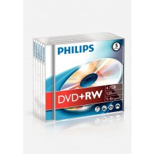 Диски Philips 4.7GB / 120min 4 x DVD+RW, 4.7