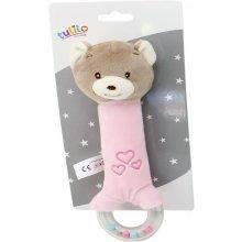 Axiom Rattle New Baby Teddy Bear pink koos...