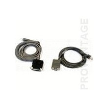 Datalogic CAB-408 RS-232 Pwr Coil 9-Pin Fem...