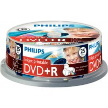 Diskid Philips DVD+R 4,7GB 25pcs spindel 16x...