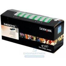 Lexmark Toner X463 black X463X11G