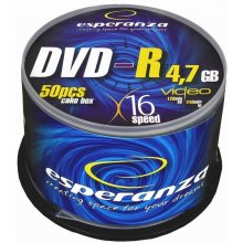 Диски ESPERANZA DVD-R 4,7GB x16 - Cake Box...