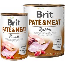 Brit PATÉ & MEAT - RABBIT Chicken Adult 800g