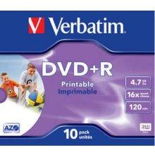 Диски Verbatim 1x10 DVD+R 4,7GB Jewel 16x...