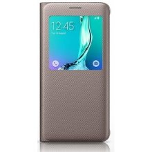 Samsung S6 Edge+View чехол Gold