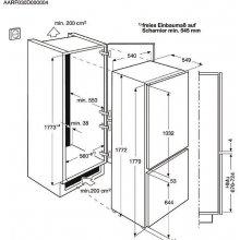 Külmik ELECTROLUX Int., NoFrost, A+, 177cm