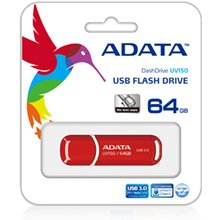 Mälukaart ADATA UV150 64 GB, USB 3.0, punane