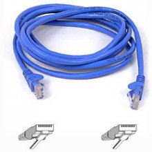BELKIN Cable patch CAT5 RJ45 snagless 0.5m...