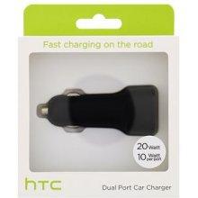 HTC Autolaadija microUSB, Dual Port, 2 x 2A...