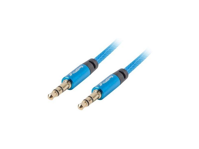 Lanberg Premium Cable Audio Mini jack 3,5mm 3pin, 3m Blue
