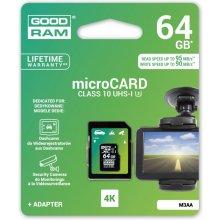 Флешка GOODRAM microSDHC 64GB MLC U3 UHS I +...
