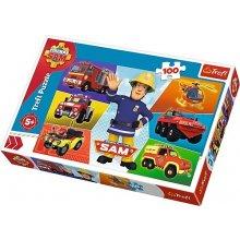 TREFL Puzzle 100 pcs - Fireman Sams vehicles