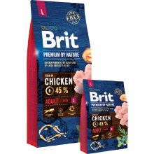 Brit Premium by Nature ADULT L - 15kg | с...
