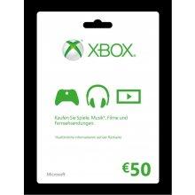 Microsoft Xbox Live Card 50 Euro...