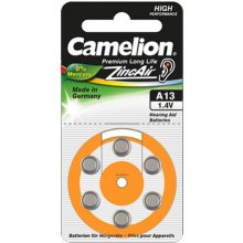 Camelion A13/DA13/ZL13, Zinc air cells, 6...