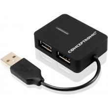 Conceptronic 4 Ports Travel USB Hub
