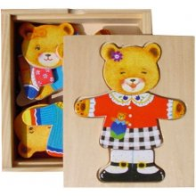 Brimarex Wooden Teddy Bear Single Puzzle