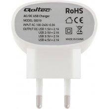 Qoltec 4 port USB akulaadija 42W | 5V |...
