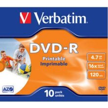 Диски Verbatim DVD-R jewel printable (10)