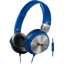 Philips наушники, kõrvapealsed+mik, синий