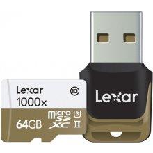 Mälukaart Lexar microSDXC 1000x 64GB inkl...