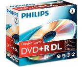 Диски Philips DVD+R 8,5GB 5pcs jewel carton...