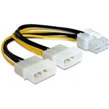Delock Stromkabel 2x Molex 4pin St -> PCI...